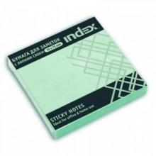 Постики  76х75 мм, 100лист, зеленый. INDEX