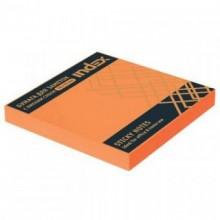Постики  76х75 мм, 100лист, неоново-оранжевый. INDEX