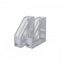 Лоток для бумаг вертикальный, пластик, серый, DELI (снят с производства)