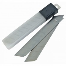 Лезвие запасное для ножа, 18мм, в наборе 10 лезвий, DELI