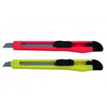 Нож канцелярский, 9 мм, в пластик упаковке с европодвесом
