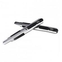 Нож канцелярский, 9мм, длина 80мм, металлический, синий, DELI