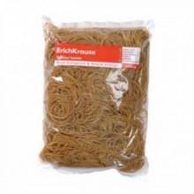 Резинки для денег, 1 кг, длина 50, 80, 100 мм, коричневая, ERICH KRAUSE