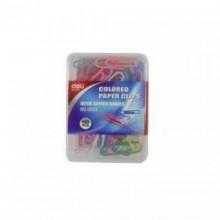 Скрепки канцелярские 29 мм, цветные , круглые, 100шт, в блистерной упаковке, DELI