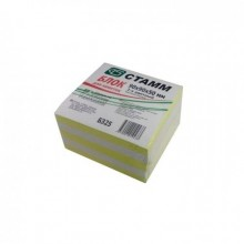 Блок бумаги для записи 9*9*5, 2-х цветн, жёлтый