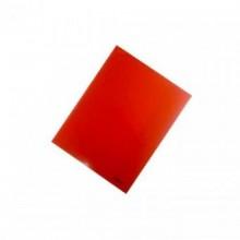 Уголок пластиковый с 2-мя внутр. клапанами,  А4, красный прозр.., 0.30мм