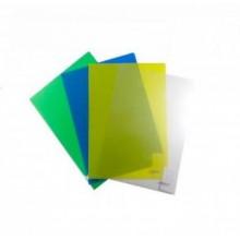 Уголок пластиковый,  А4, жёлтый прозр., 0.16мм
