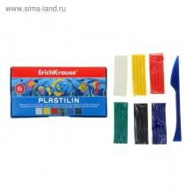 Пластилин 6 цв*18гр, со стеком, школьный, в коробке, ERICH KRAUSE