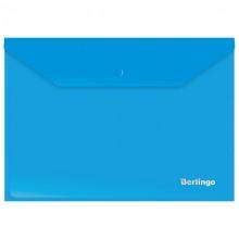 Папка-конверт на кнопке Berlingo, А4, 180мкм, синяя