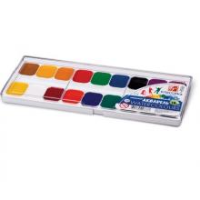 Краски акварельные ЛУЧ «Классика», 18 цвета, медовые, без кисти, пластиковая коробка