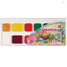 Краски акварельные ЛУЧ «ZOO», 12 цвета, медовые, без кисти, пластиковая коробка