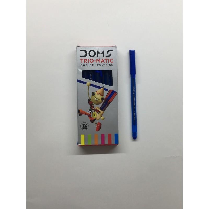 Ручка Doms Trio-matic 0.6мм цвет чернил-синий.
