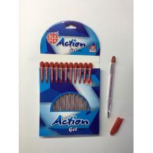 Ручка Action, Obama, гелевый, красный,1шт-50тг