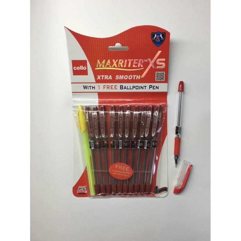 Ручка масляная Cello Maxriter XS красная