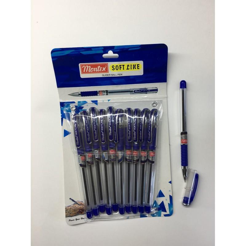 Ручка шариковая  montex soft line