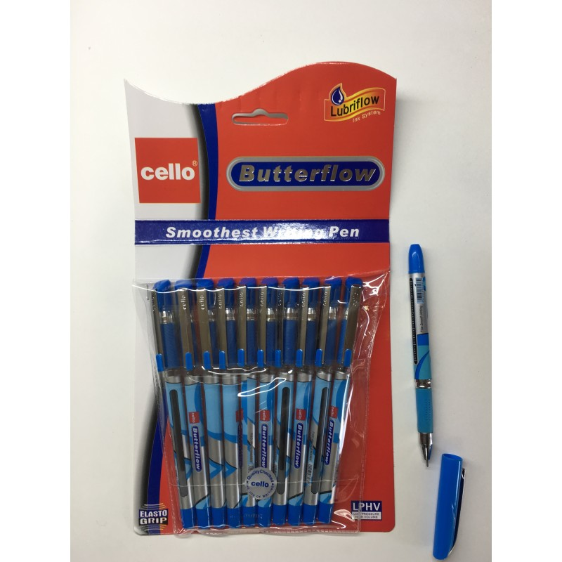 """Ручка шариковая """"CELLO butterflow"""" синий"""