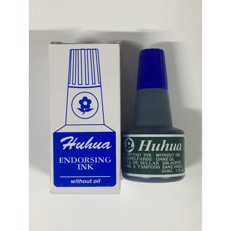 Чернила для штампов печатей HUHUA 30мл. синий
