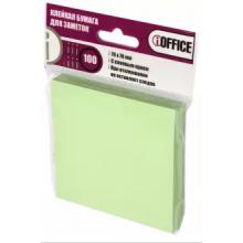 Клейкая бумага для заметок, 76*76 мм, 100 листов, зеленая